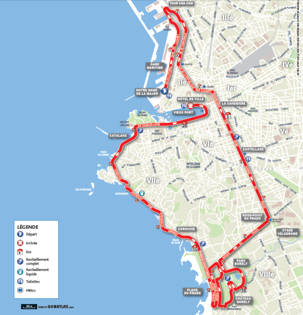Parcours semi runinmarseille